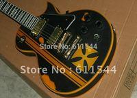 Custom Aged  Metallica James Hetfield Iron Cross Classic Best Electric Guitar Free Shipping