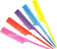 Free shipping Beauty Tools Hair combs Pointed tail comb hair styling tool tip pointed tail comb hair mix order the color 100pcs