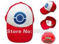 DHL Free shipping 3 colors NEW Wholesale DHL POKEMON ASH KETCHUM COSTUME COSPLAY MESH CAP HAT Pokemon Sun ASH baseball hat