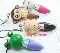 Free shiping!! Wholesale Cute Cartoon Wooden ballpoint pens,Stationery Ball Point Pen/Office&amp;Study Ball Pen ,Cheap