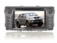 "6.2"" 2 DIN car DVD player For TOYTOA HILUX 2012 with GPS ATV Blutooth RDS ipod PIP V-CDC 3G USB host"