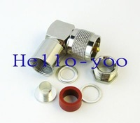 Free shipping! UHF male right angle connector nickelplated plug for coaxial cable