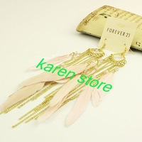 NEW 2012 HOT Fashion Silver&Gold Leaf/Fire Design Cartilage Ear Cuff Warp Clip Earring, Free Shipping, E1-069