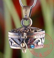 Free Shipping 10pcs/lot Antique Bronze  Wish Prayer Box Pendant, Magic Perfume Locket charm pendant  fit Bracelet/necklace- P234