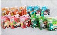 Free Shipping High Quality MINI wood car vehicle Children Toys12models mixed 24pcs/lot