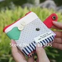Free Shipping /Best selling Buckle wallet Fold wallet Fashion purse Cotton  Wholesale 8pcs\lot