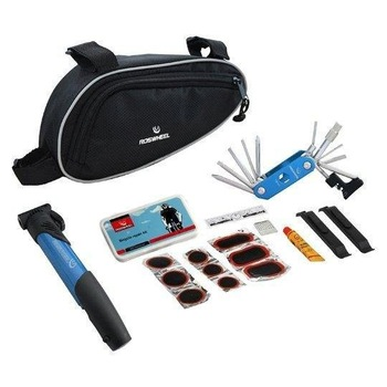 Blue Multi-function Cycling Bicycle tools Bike repair kits with Pouch Pump
