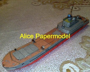 [Alice papermodel]WWII Allied Landing Craft Fishing boats Train car Ferry tugboat cargo ship Passenger liner models