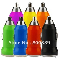 Free Shipping Mini USB Universal Car Charger Adapter For iphone/ipod  Smartphone
