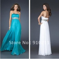 Free Shipping 2013 Sexy Gathered Romantic Grecian inspired strapless empire Indian Evening Dress Prom Cocktail Dresses