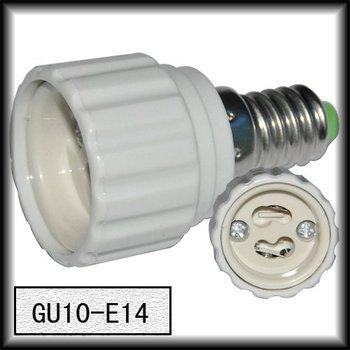 1pcs/lot Brand New E14 to GU10 Light Lamp Base Adapter Socket Converter Plastic White Best Price free shipping
