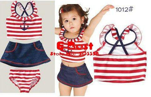 Free shipping!5sets/lot baby girl cute bikini goldfish design swimwear new ...