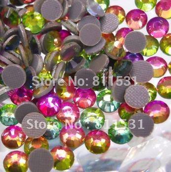 2012 flatback Rainbow color SS10(2.7-2.9MM)DMC Hot Fix Crystals Rhinestones!!1440PCS 10ss hot fix DMC crystal stones!!