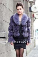 VK0022 Winter Women's Genuine Fox Fur Jacket Female Slim Outerwear Garment Free shipping