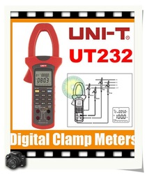 100% NEW Power Factor Clamp Meter 3 Phase UT232 Tester True RMS DHL UPS EMS Free shipping(China (Mainland))