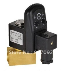 1/4'' Electric Timer Solenoid Water Drain Valve Pipeline Water Systerm Control Valves 24-230V(China (Mainland))