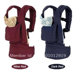 Front & Back Baby Carrier Infant Backpack Sling wine red and Dark Blue Comfort Free Shipping(China (Mainland))
