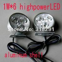 2*3w 6 LED  6w high power  led daytime running light  off road light   LED WORK LIGHT,Free shipping