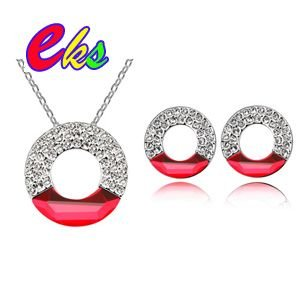 Wholesale Fashion Hollow Cuboid Necklace/Swarovski Elements Jewelry/Colorful Long Shape Crystal Necklace/Free Shipping#1348