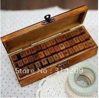 Freeshipping!New Creative Letters&Numbers&Punctuation Marks Wood Stamp Set/DIY Stamp/Decorative DIY Funny Work-42pcs/set
