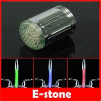 50 Pcs/Lot NO Battery Glow LED Color Changing Water Faucet Temperature Sensor Tap