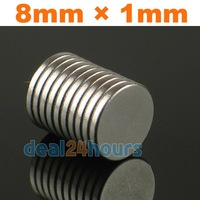 100PCS 8mm x 1mm Super Strong Round Rare Earth Neodymium Magnets Magnet Kid Toy
