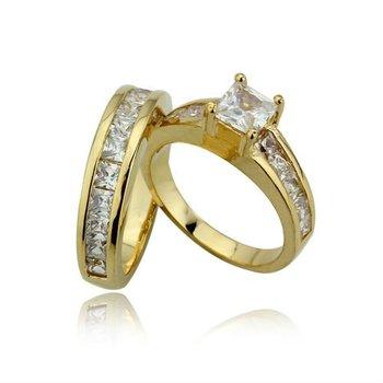 wholesale Gorgeous 18K Golden Wedding Ring Set, Free Shipping, # ...
