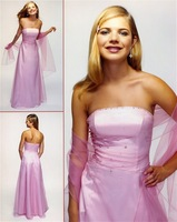 2012 high quality! Matching Sexy Strapless  Beaded wholesale Communion Dresses Prom Dresses Party Dresses Floor length