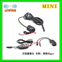 Free shipping 2.4G wireless rear view car camera with mini parking backup camera ,170 degree,water-proof
