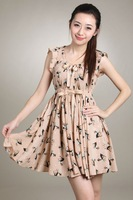 2012 newest design deer printting ladies dress