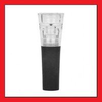 Elegant Wine CorkscrewPlastic Vacuum Wine Plug / Stopper - Black + Transparent 1Lots=5pcs LS0032