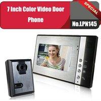 No.LPN145  7 inch color video door phone/video doorbell Kit 1 camera+1 monitors  Hands Free,Night Vision,Remote Unlock,rainproof