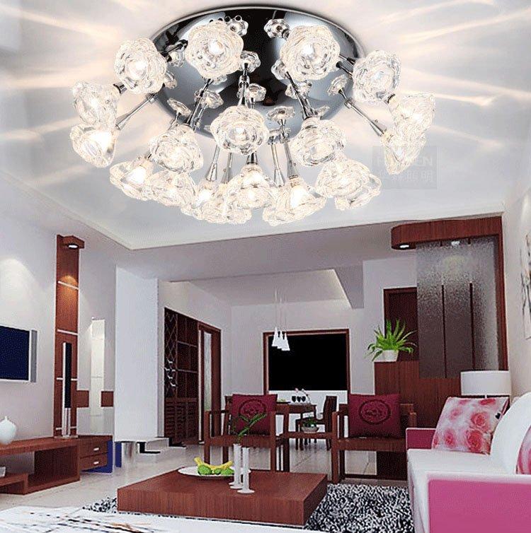 woonkamer plafondverlichting lampen glazen kap moderne woonkamer ...