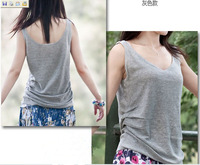2012 new arrival women's loose plus size vest female spaghetti strap vest top linen