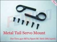 F00322 1 Pair Metal Tail Servo Mount (BLACK) For ALIGN TREX 450 SE V2 Sport PRO Rc heli Helicopter + Free shipping