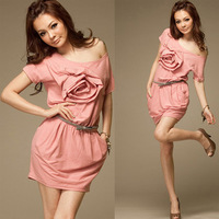 C7562k summer new arrival 2012 sweet one-piece dress clothing fashion short-sleeve dress skirt