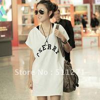 2012 new arrival women's summer clothes plus size street loose short-sleeve T-shirt long design