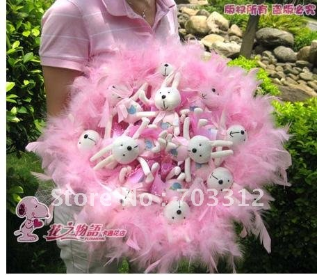 11 little pig cartoon plush childe bouquet special girl u birthday present valentine's day gift workshop