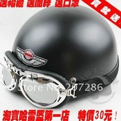 Free Shipping Hot Goggles Motorcycle Half Face Motorbike Victory Helmet Motorcycle Racing Helmet S1-15(China (Mainland))