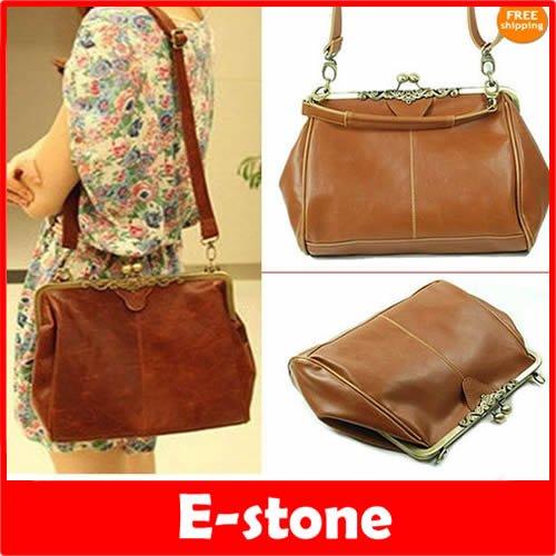 Vintage Hollow Out Shoulder Satchel Tote Bag Handbag 97
