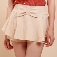 Short skorts female casual shorts vintage high waist culottes