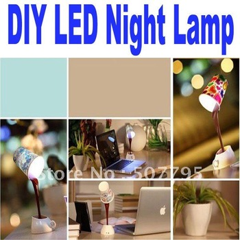 drop shipping novelty DIY LED night lamp Night Lights table home decoration romantic coffee Usb or battery promotion