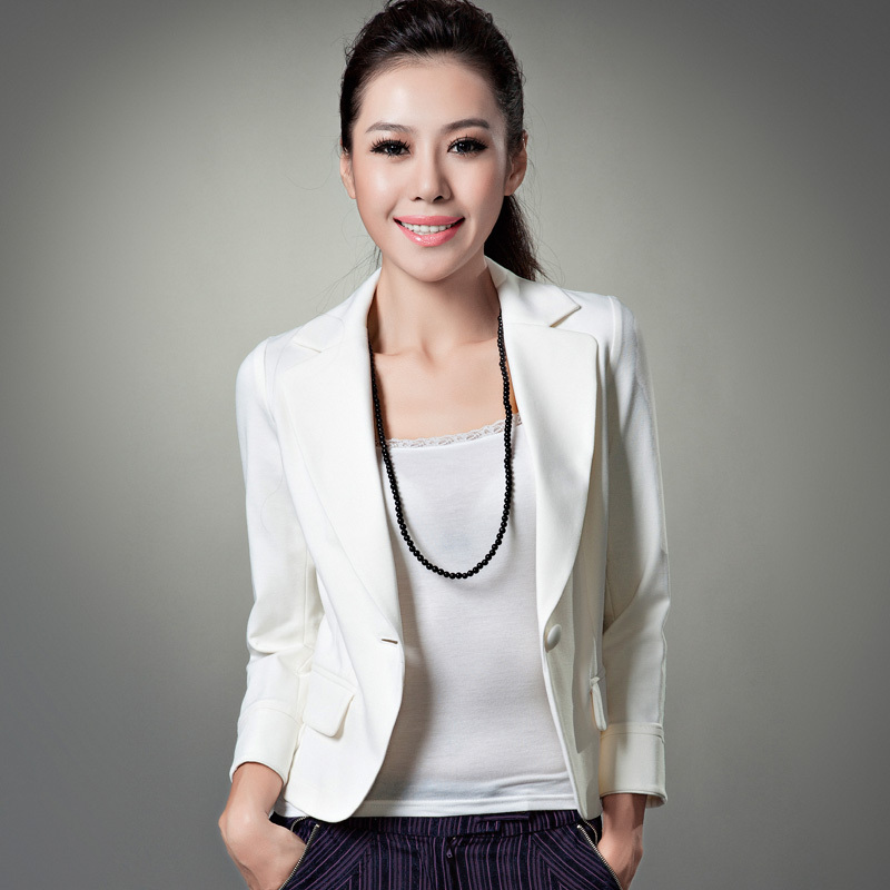 spring ol white slim small suit jacket short jacket female 900333 free
