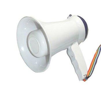 Brand NEW 15W Megaphone BULL HORN Loud SPEAKER White 60088