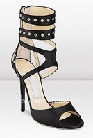 Женские сандалии Classic Black Cut-Out Weave Women Suede Sandal Boots, Sexy Gladiator High Heels Shoes