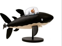 "High quality  PVC ""Tintin and snow sitting in the  shark "" figure"