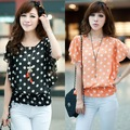 FREESHIPPING 2012 summer new arrival ruffle short-sleeve chiffon shirt sweet