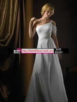 Km2012 2290 the royal princess bride oblique sling train wedding dress