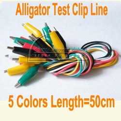 wholesale 20pcs/lot 5 colors Test Lead Set Alligator Clips and Banana To Crocodile Type Connector With Wire(China (Mainland))