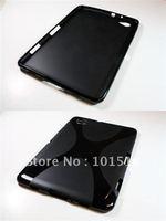 Free shipping Soft TPU Gel Case for Samsung Galaxy Tab 7.7 P6800 New+screen film
